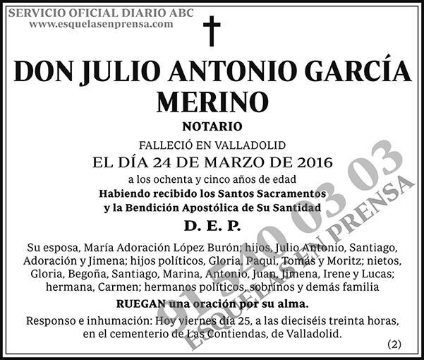 Julio Antonio García Merino